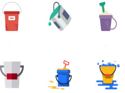 Buckets Mugs and Storage Bins